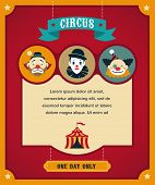 stock photo of circus tent  - vintage hipster circus poster - JPG
