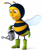 image of bumble bee  - Fun bee - JPG