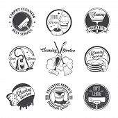 image of cleaning service  - Set of vintage logos - JPG