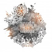 stock photo of ramazan mubarak  - Beautiful text Ramadan Mubarak  - JPG