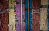 pic of door  - Aged doors of a bar in Bali indonesia - JPG