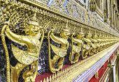 picture of garuda  - Ros of Beautiful Golden Garuda in Temple  - JPG