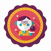 foto of physicist  - , stylish colors of vector illustration., stylish colors of vector illustration. - JPG