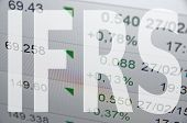 stock photo of financial audit  - IFRS is International Financial Reporting Standards - JPG