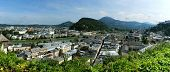 stock photo of mozart  - Salzburg is the city of Mozart and the magnificent summer festivals - JPG