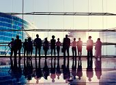 stock photo of team building  - Global Corporate Business Team Vision Mission Concept - JPG