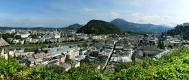 image of mozart  - Salzburg is the city of Mozart and the magnificent summer festivals - JPG