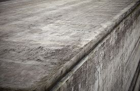 picture of chute  - Gray concrete wall corner with a grunge look - JPG