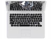 stock photo of cybercrime  - Laptop Computer crash concept  - JPG