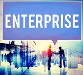 foto of enterprise  - Enterprise Company Corporation Business Project Concept - JPG