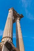 Постер, плакат: Old columns at the Marcellus Theatre in Rome