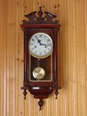 picture of last day work  - its old clock brown on the wall - JPG