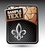 fleur de lis bronze cracked background