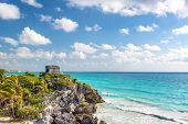 Tulum Ruins And Caribbean Sea poster