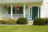 pic of front door  - front porch of a newer home - JPG