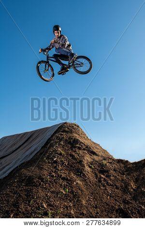 Bmx Bike Jump Over A