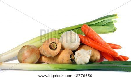 Постер, плакат: Зимой овощи, холст на подрамнике