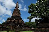 Wat Phra That With Buddha Statues Historical Park In Kamphaeng Phet, Thailand (a Part Of The Unesco poster