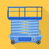 Lift Stand Icon. Flat Illustration Of Lift Stand Vector Icon For Web Design poster