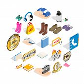 Advertising Campaign Icons Set. Isometric Set Of 25 Advertising Campaign Vector Icons For Web Isolat poster