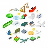 Army Icons Set. Isometric Set Of 25 Army Icons For Web Isolated On White Background poster