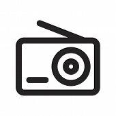 Radio Vector Icon On White Background. Radio Icon In Modern Design Style. Radio Vector Icon Popular  poster