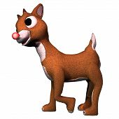 stock photo of rudolf  - Rudolf the red - JPG