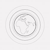 World Atmosphere Icon Line Element. Vector Illustration Of World Atmosphere Icon Line Isolated On Cl poster