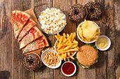 assorted fast food, junk food poster
