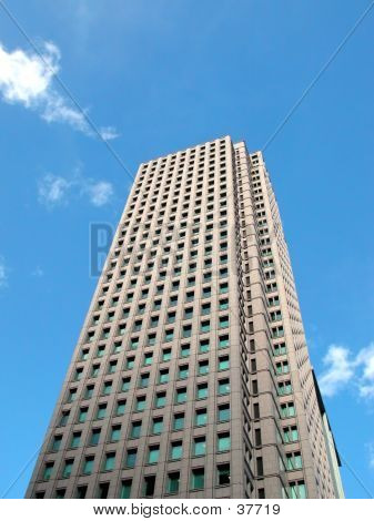 Picture or Photo of Skyscraper over the blue sky