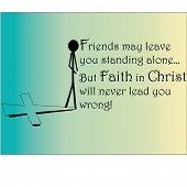 Постер, плакат: Вера в Христа