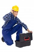 Workman With Toolbox