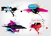 pic of gout  - ink stain based decorative vector banners - JPG