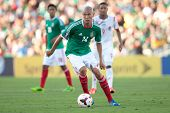 PASADENA, CA - JULY 7: Jorge Enriquez #14 of Mexico during the 2013 CONCACAF Gold Cup game between M