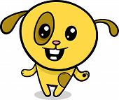 stock photo of kawaii  - Cartoon Illustration of Kawaii Style Cute Happy Dog or Puppy - JPG