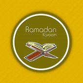 stock photo of islamic religious holy book  - Muslim community holy month of Ramadan Kareem concept with open Islamic religious book Quran Shareef - JPG