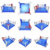 picture of boxing ring  - Set of boxing ring - JPG