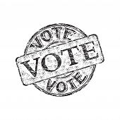Vote grunge rubber stamp