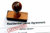 stock photo of rental agreement  - Close up of Lease agreement  - JPG