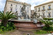 stock photo of artemis  - Fountain of Artemis Ortigia  - JPG
