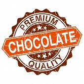 pic of bittersweet  - Chocolate grungy stamp isolated on white background - JPG