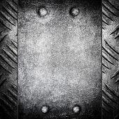image of ironworker  - metal pattern background  - JPG