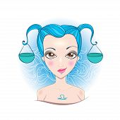 picture of libra  - Illustration of astrological sign of Libra - JPG