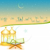picture of eid ka chand mubarak  - easy to edit vector illustration of Iftar Party background - JPG
