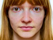 stock photo of unnatural  - Face with symmetry from dutch teenage girl - JPG