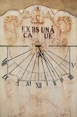 pic of sundial  - The Cluny Abbey sundial in Burgundy - JPG