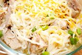 pic of scallion  - Cheesy Chicken and Ramen Noodles with Scallions