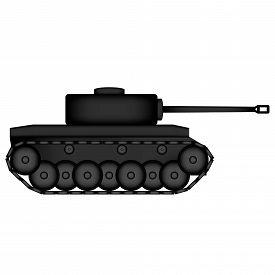 pic of panzer  - Panzer icon on white background - JPG