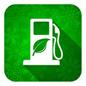 pic of biodiesel  - biofuel flat icon - JPG