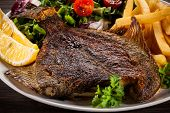 stock photo of flounder  - Fish dish  - JPG